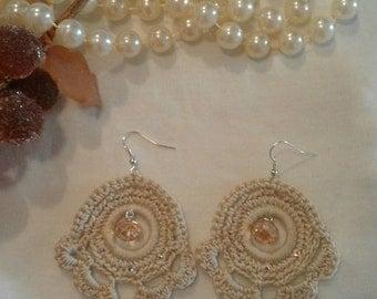 Double crochet earrings pendant