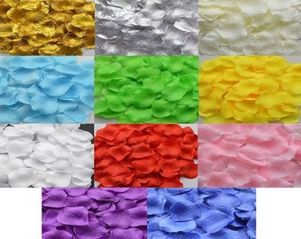 100 - Silk Rose Petals - 11 Colours To Choose From For Weddings, Confetti, Decoration