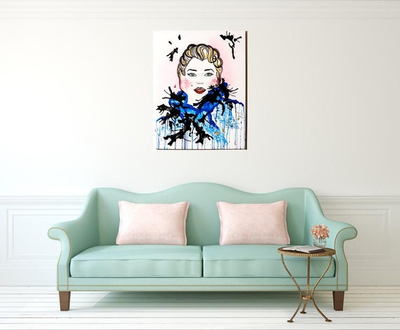 Picture Marilyn Monroe - paint multi-technical