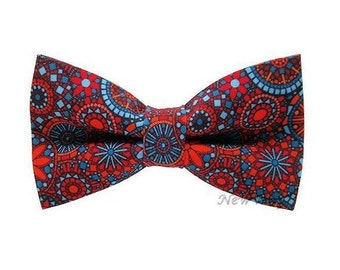 Mens Bow ties Vintage Bow tie Red Bow tie Blue Bow tie Mandala bow tie Unique bow ties Star bowtie Floral bowties Summer bow tie Partyfavors