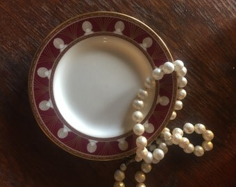 """Bread & Butter Plate in """"Halena"""" by Gorham. Fine China 24 KT. Gold. Japan."""