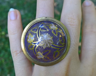 mysterious hand-painted ring from India