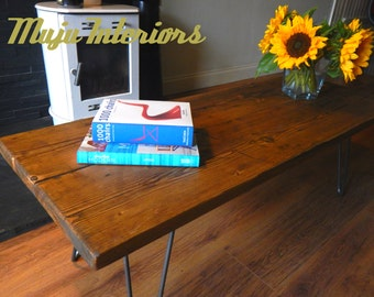 Handmade Rustic Coffee Table made with Reclaimed Wood