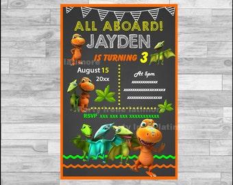 dinosaur train invitations | etsy, Birthday invitations