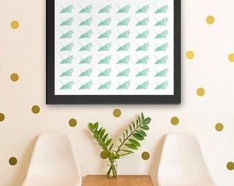 """Printable Art 8x10 Download: """"49 Cranes"""" Origami Decor Print"""