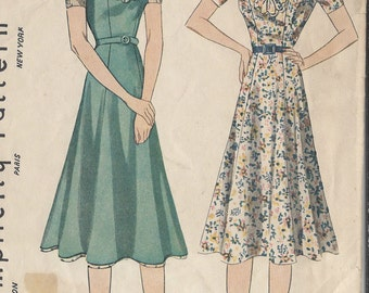 "1940s Vintage Sewing Pattern DRESS B32"" (26)"