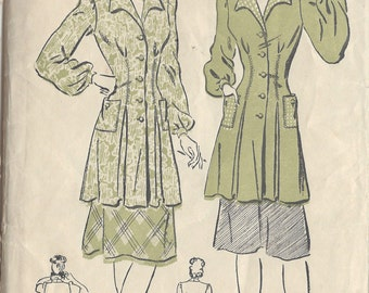 "1940s Vintage Sewing Pattern B32"" SMOCK TOP (125)  Advance 2809"