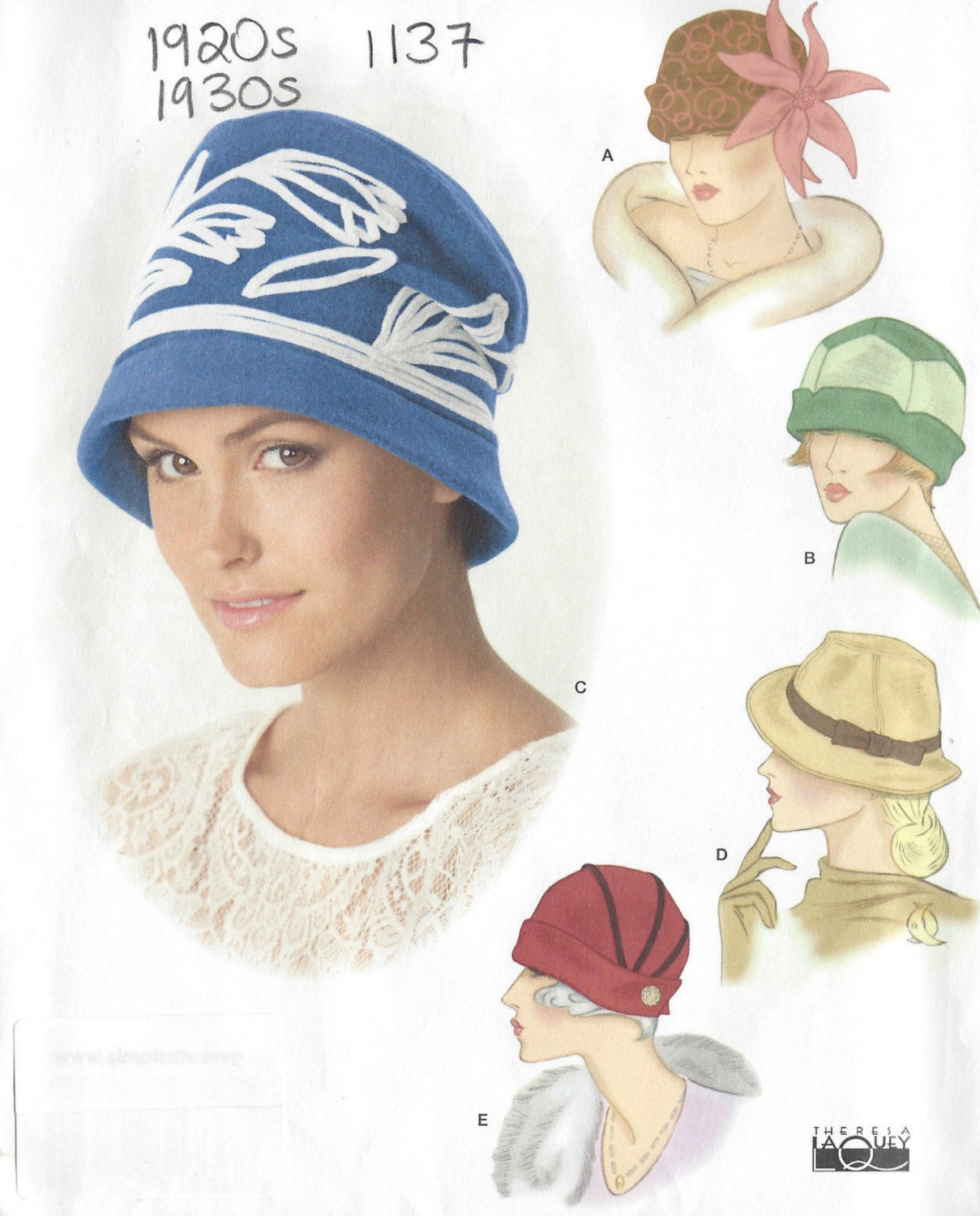 5873b62d8b7 1920s   1930s Vintage Sewing Pattern HAT S21-22-23 ins (1137R) Simplicity  1736 from tvpstore on Etsy Studio