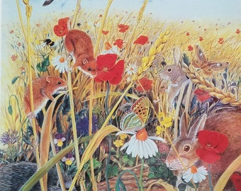 Vintage 1993 FX Schmid 90 Piece Interactive Jigsaw Puzzle Down In The Meadow New and Sealed