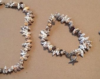 Seashells - Necklace, Anklet, & Bracelet