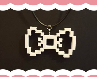 8-Bit Inspired Bow Necklace