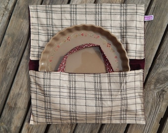 Pie bag lined 100% cotton