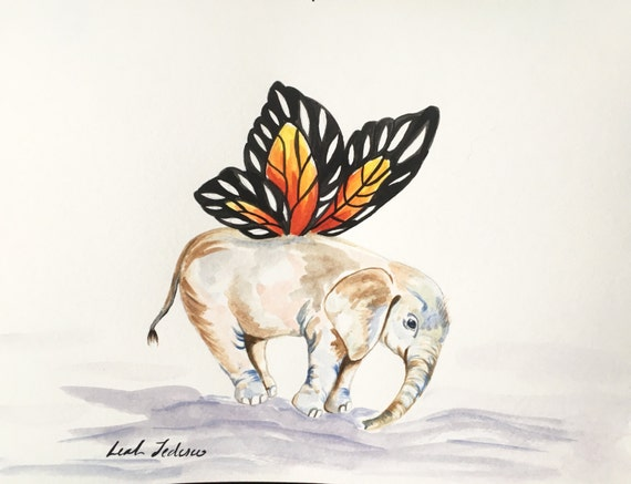 painted elephant butterfly - photo #13