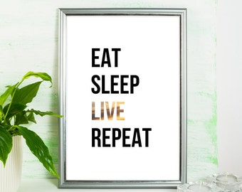 eat sleep dream etsy. Black Bedroom Furniture Sets. Home Design Ideas