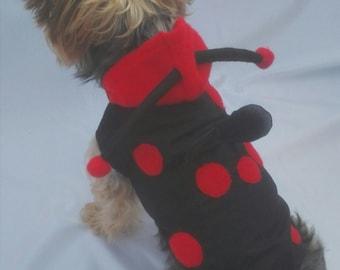 Ladybug costume for dogs, ladybug halloween costume, dog ladybug costume
