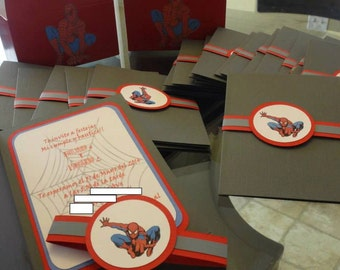 Spider Man Party Invitations