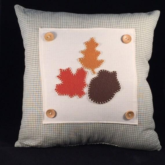 Decorative Pillows Homemade : Items similar to Handmade Country Applique Fall Throw Pillow, Autumn Decorative Pillows, Fall ...