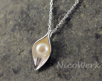 Silver necklace with pendant necklace ladies jewelry 925 Silver Chain gift 152