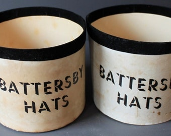 Vintage Pair of Battersby Hat Boxes