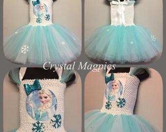 Elsa from frozen inspired tutu dress