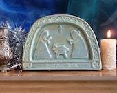 Copper Green Celtic Nativity Plaque
