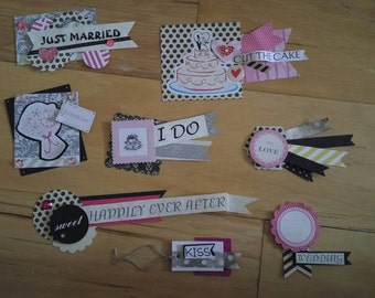 Paper Embellishments, wedding embellishments, scrapbooks, card making, gift wrapping, journaling, mini albums