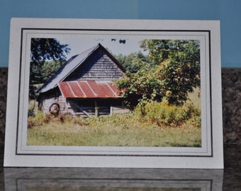 Double Framed Card - Old Barn