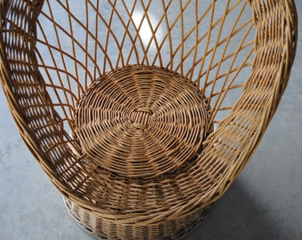 Vintage antique chair rattan