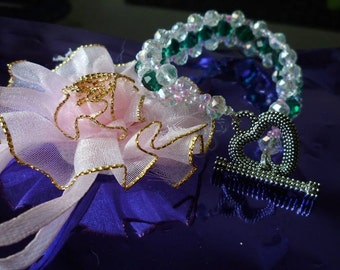 Handmade Rondell Crystal Bracelet - any colour