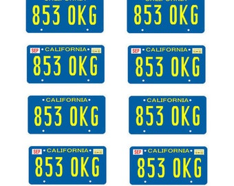 scale model Rockford Files license tag plates
