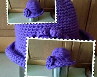Chunky Crocheted cloche hat