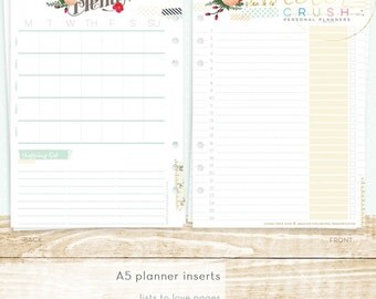 Websters Pages - Color Crush Collection - A5 Planner - Inserts - Lists to Love P1012