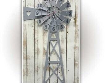 Windmill Clock 600 x 300mm