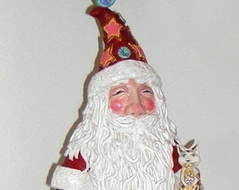 Santa Claus. Completely handmade in ceramic.