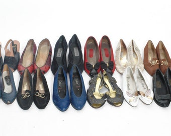 Wholesale Vintage Shoes Flats Heeled Sandals Twelve Pairs