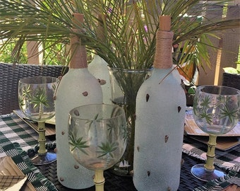 Auger Shell Art Wine Bottle With Lights