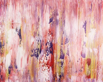 Modern, Original, Abstract, Canvas,PAINTING, Wall Art,pink,purple,yellow,White,Art by Kim Magee,Painting on Canvas