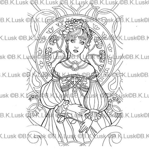 elaborate fairy coloring pages - photo#5