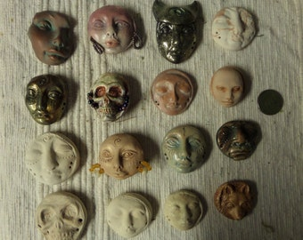 Artist SALE Make your own dolls with this set of 16 polymer cabs. Creativity pink set
