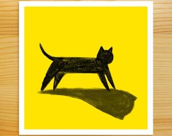 Spook Black Cat 5x5 Print