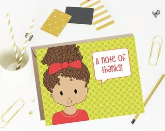 Thank You Note Cards for Kids - Trelis- Set of 10
