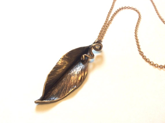 Bronze Ivy Leaf Necklace - Made to order