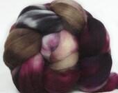 SUPERWASH MERINO roving top handdyed wool spinning fiber 3.6  oz