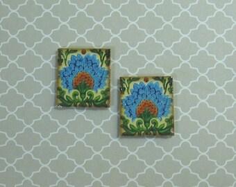 Pair of Dollhouse Miniature Art Deco Design Trivets - G