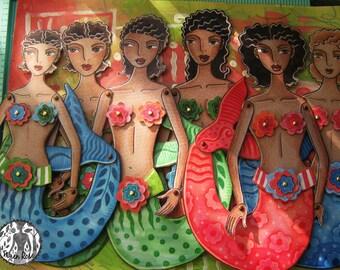 Caribbean Mermaid Printable PDF Paper Dolls