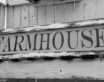 Kitchen Sign | FARMHOUSE SIGN | Aged Wood | Shabby Chic Sign | Distressed Sign | Chippy Paint | Vintage Sign | Reclaimed | Rustic Sign