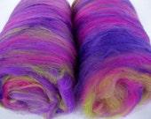 18 micron merino silk spinning batts, nuno felting fiber, wet felting wool, spinning fiber, hand carded wool, batting, art batt, 3.5oz/100g