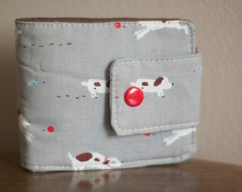 Fabric Wallet | Puppy wallet |  Billfold Wallet | Vegan wallet | Wallet