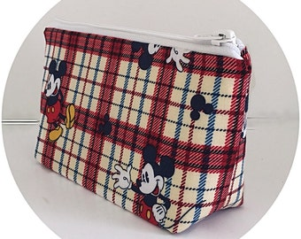 makeup bag, Mickey Mouse, cosmetic bag, organizer pouch, zipper pouch, gift for girlfriend, gift for her,  (442)