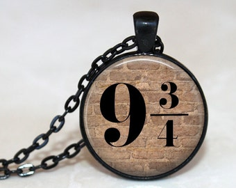 9 3/4 Platform -  Pendant Necklace or Key Chain - Choice of 4 Colors - 1 Inch Round